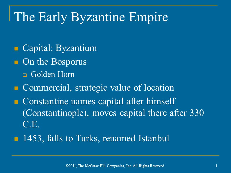 The Early Byzantine Empire
