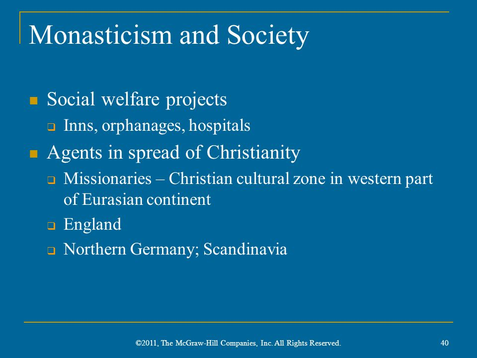 Monasticism and Society