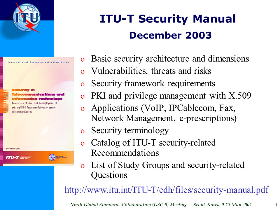 ITU-T Security Manual December 2003