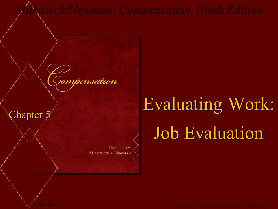 Evaluating Work: Job Evaluation