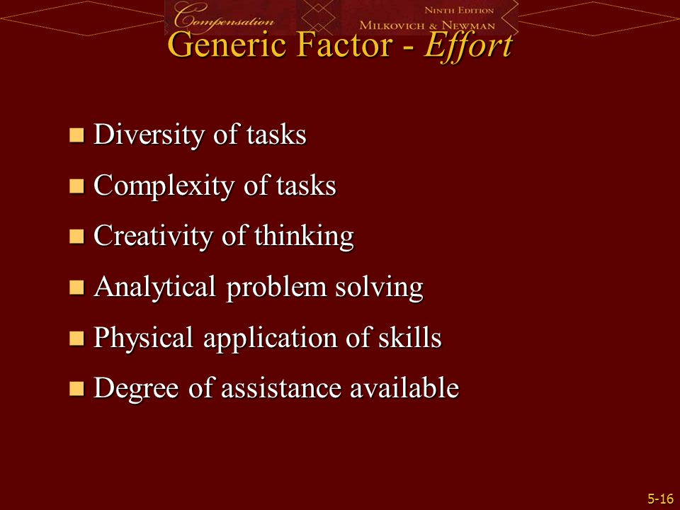 Generic Factor - Effort