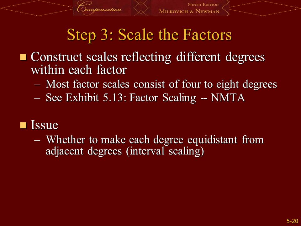 Step 3: Scale the Factors