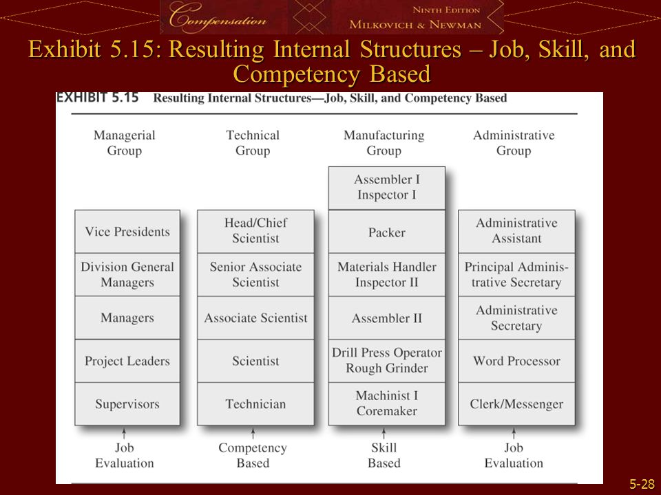 Exhibit 5.15: Resulting Internal Structures – Job, Skill, and Competency Based