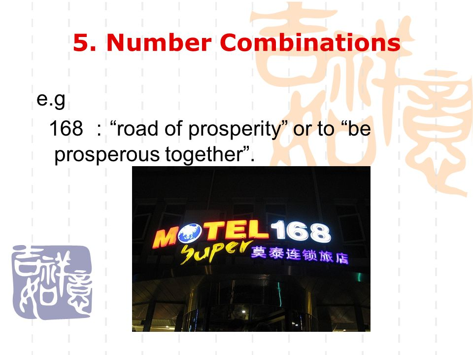 5. Number Combinations e.g