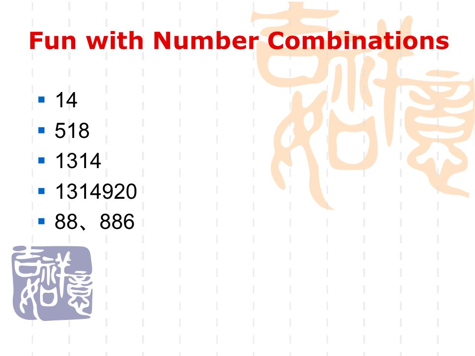Fun with Number Combinations