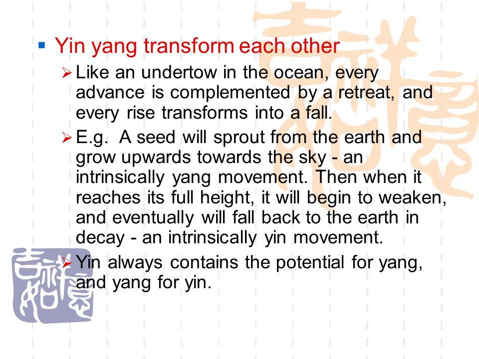 Yin yang transform each other