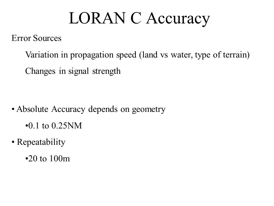 LORAN C Accuracy Error Sources