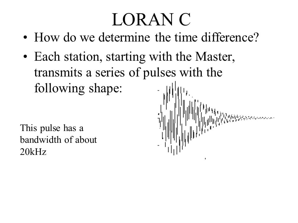 LORAN C How do we determine the time difference