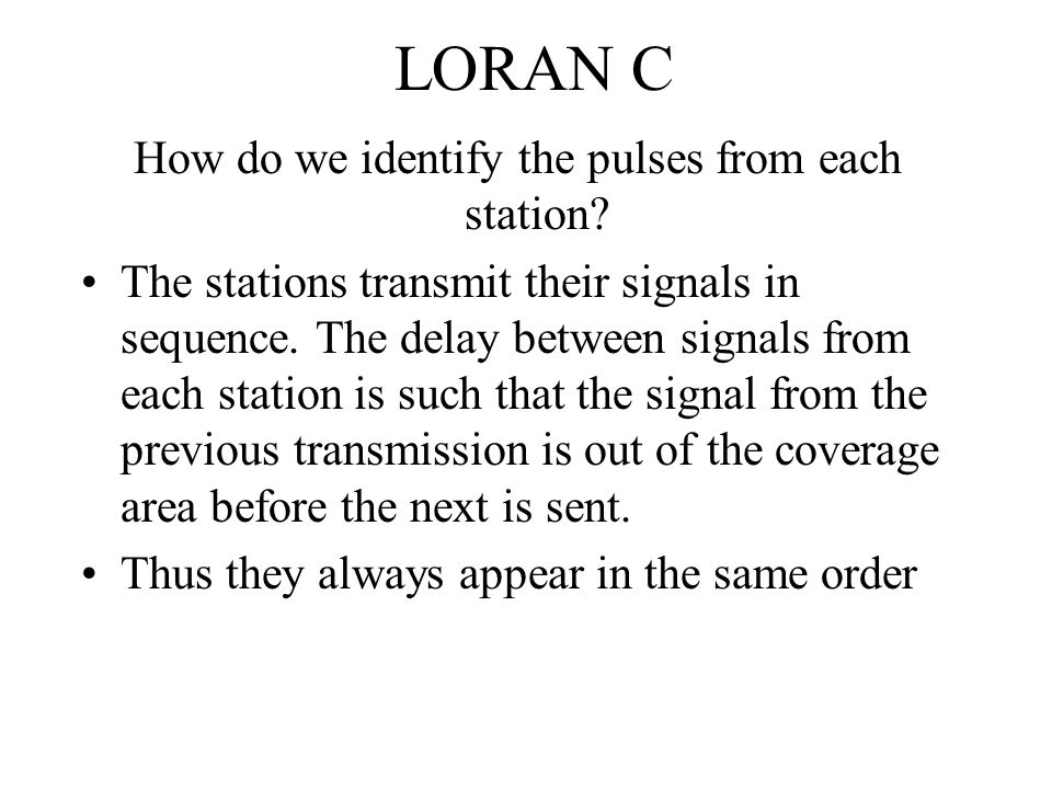 How do we identify the pulses from each station