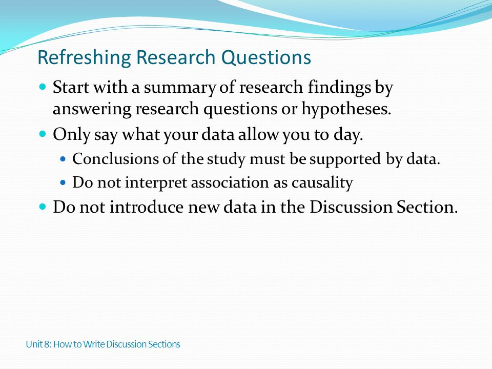 Refreshing Research Questions