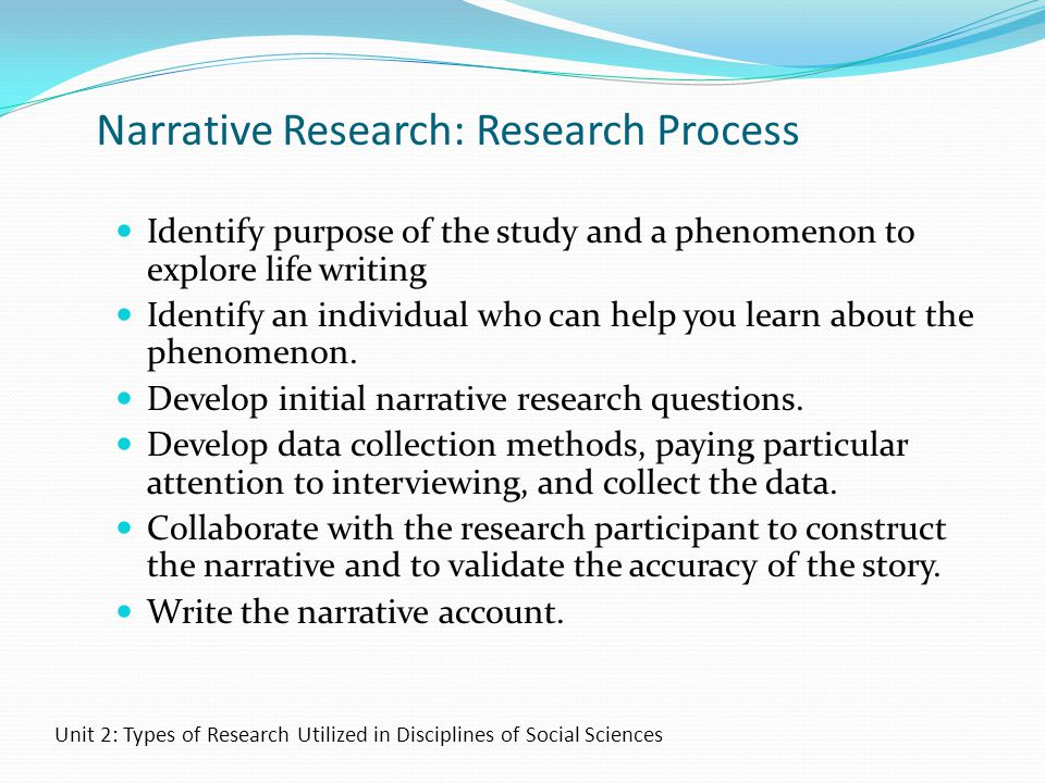 Narrative Research: Research Process