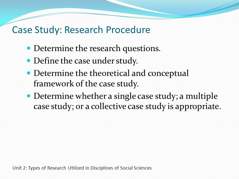 Case Study: Research Procedure