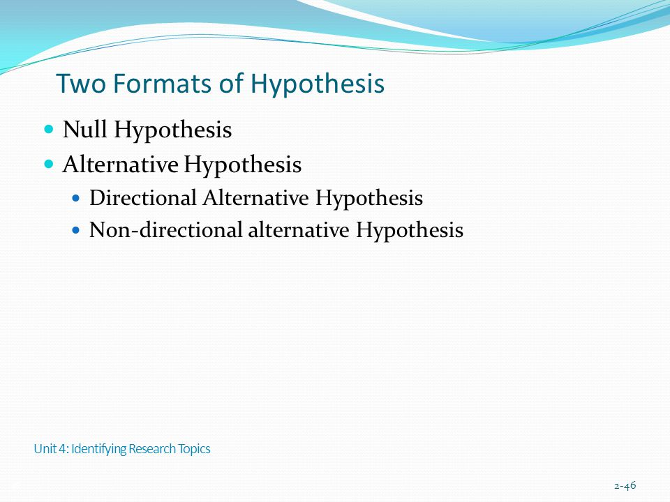 Two Formats of Hypothesis