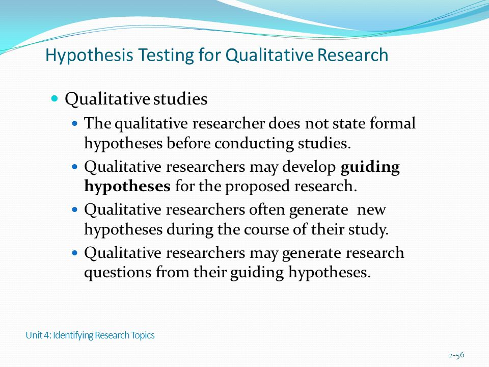 Hypothesis Testing for Qualitative Research