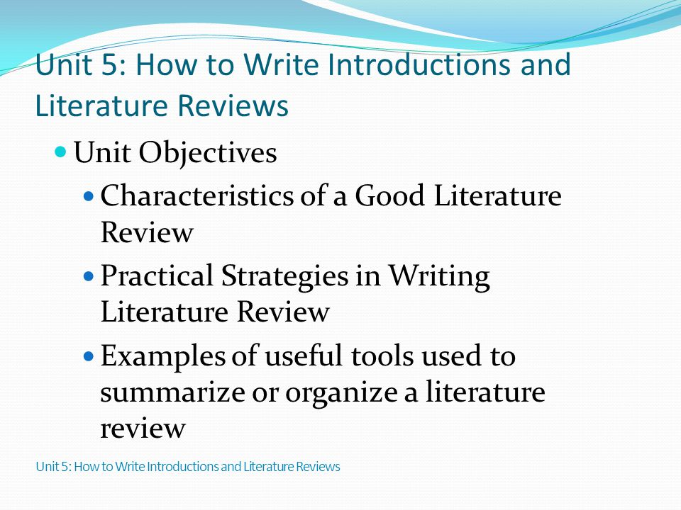 how do i write a literature review for my thesis
