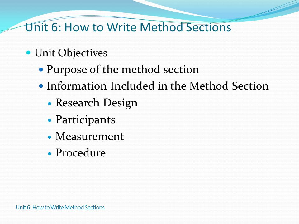 Writing Sample– Materials and Methods