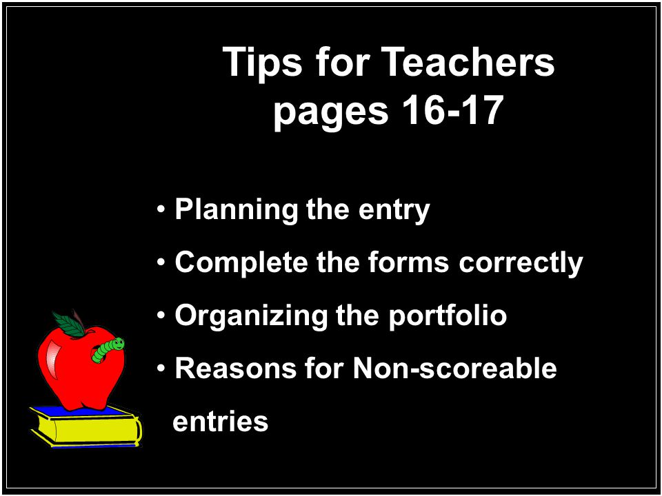 Tips for Teachers pages 16-17