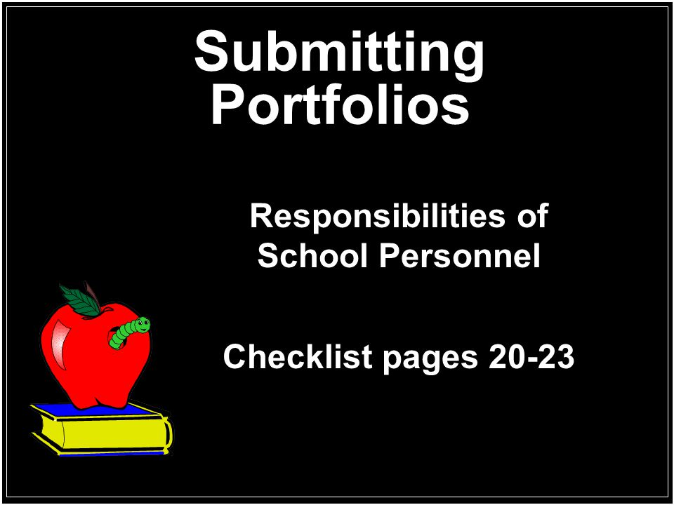 Submitting Portfolios
