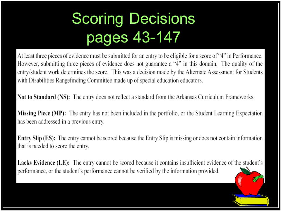 Scoring Decisions pages 43-147