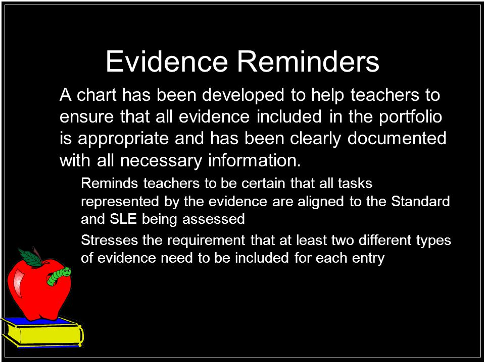Evidence Reminders