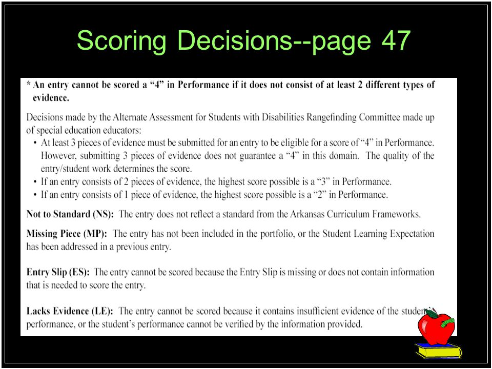 Scoring Decisions--page 47