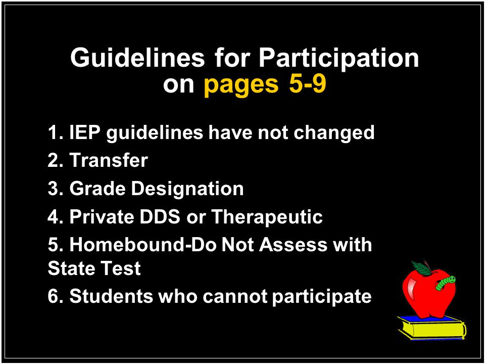 Guidelines for Participation on pages 5-9