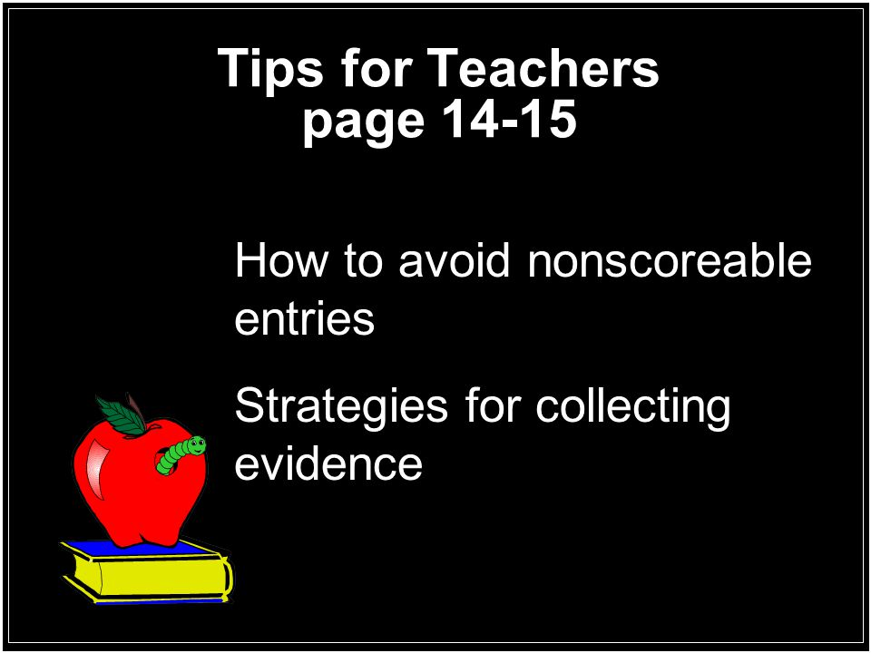 Tips for Teachers page 14-15