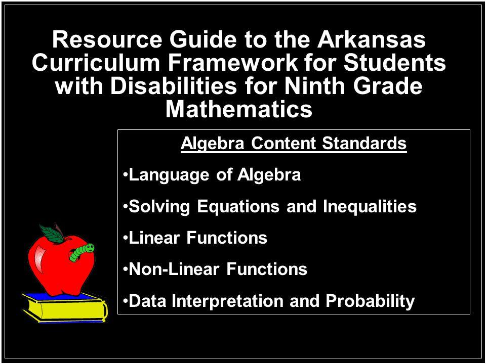 Algebra Content Standards