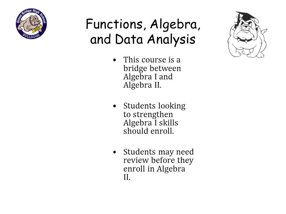 Functions, Algebra, and Data Analysis