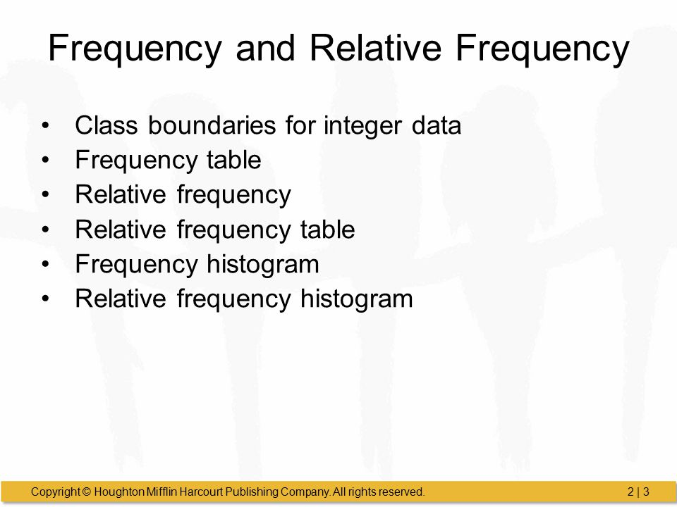 Frequency and Relative Frequency