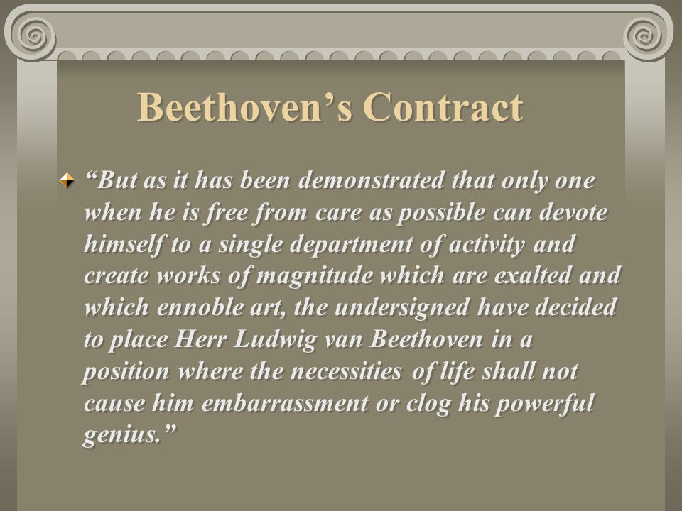 Beethoven's Contract