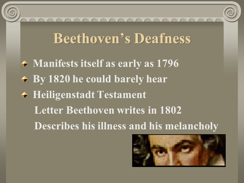 Beethoven's Deafness Manifests itself as early as 1796