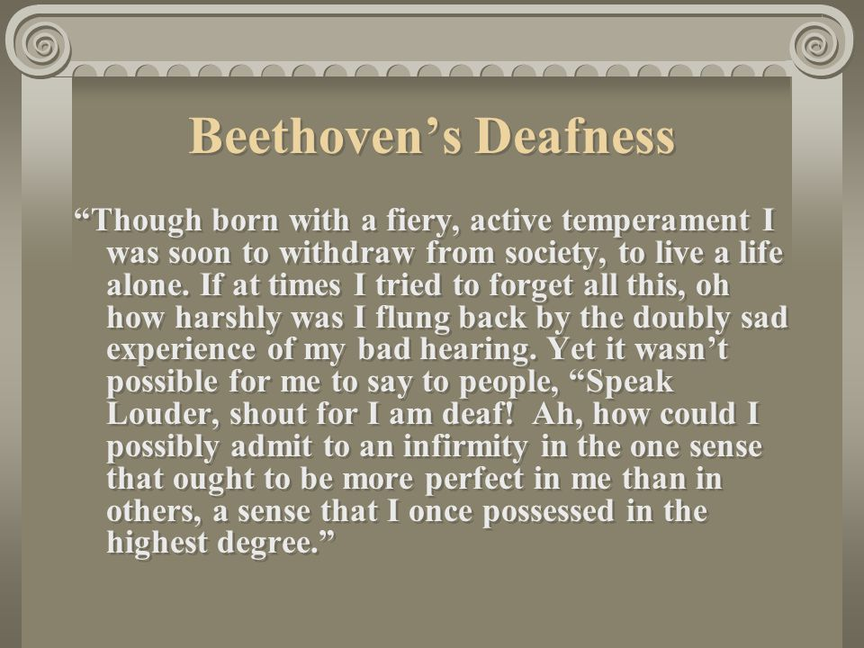 Beethoven's Deafness