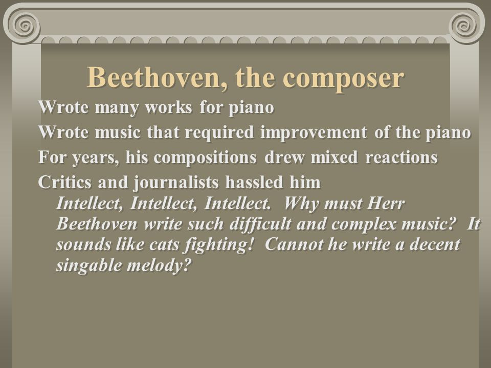 Beethoven, the composer