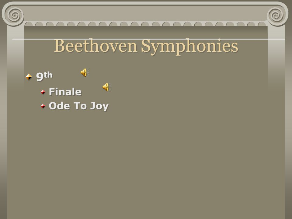 Beethoven Symphonies 9th Finale Ode To Joy