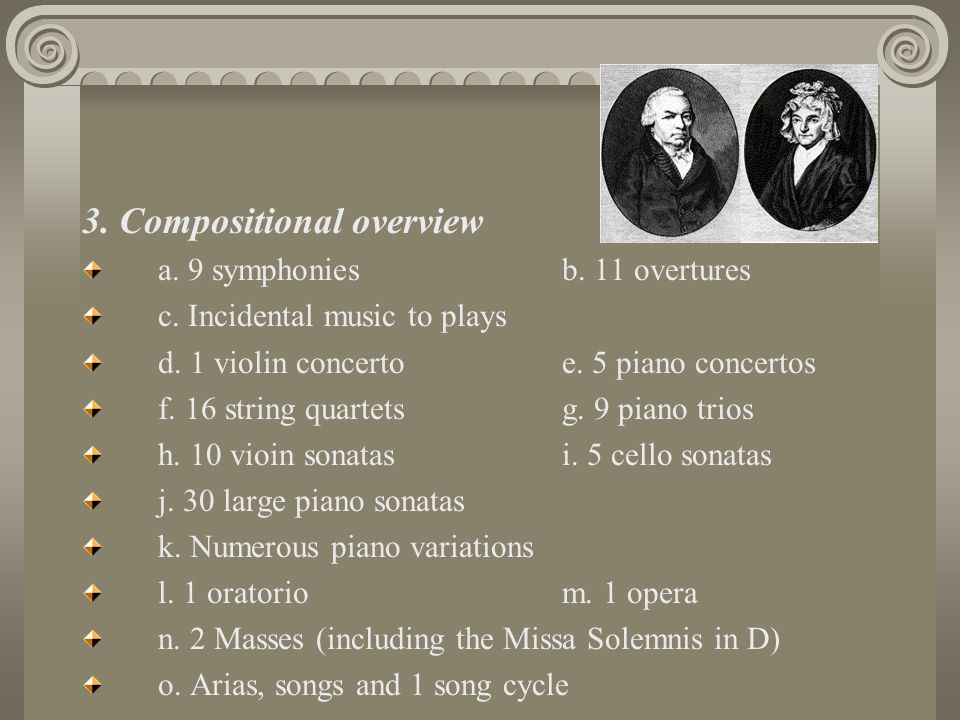3. Compositional overview