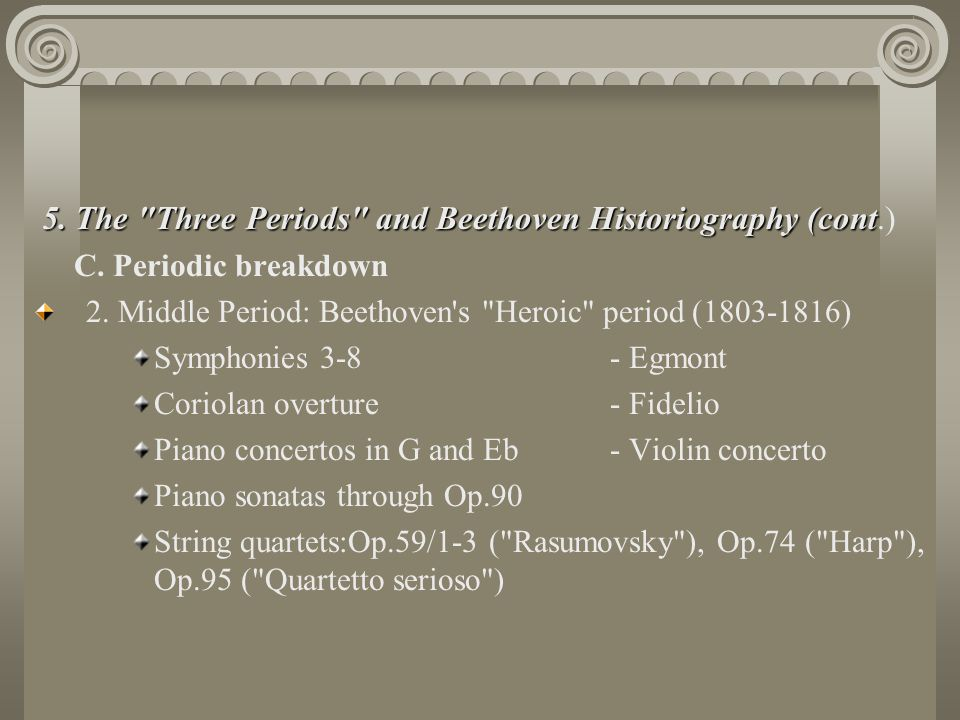 5. The Three Periods and Beethoven Historiography (cont.)