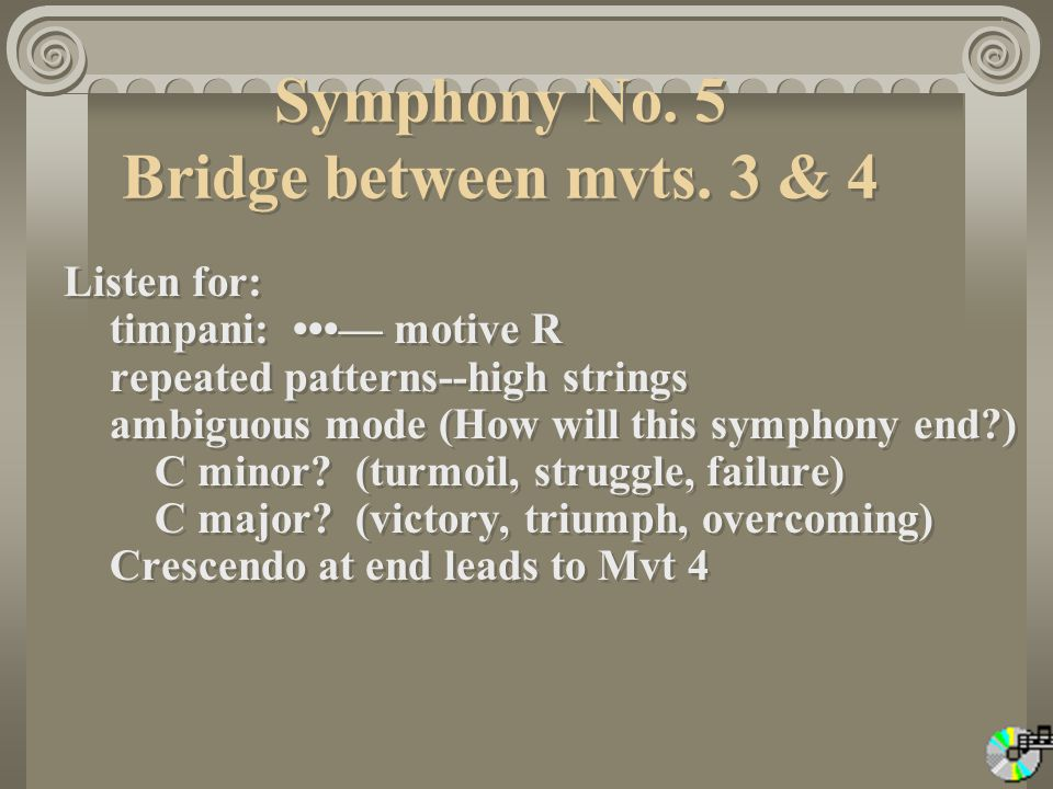 Symphony No. 5 Bridge between mvts. 3 & 4