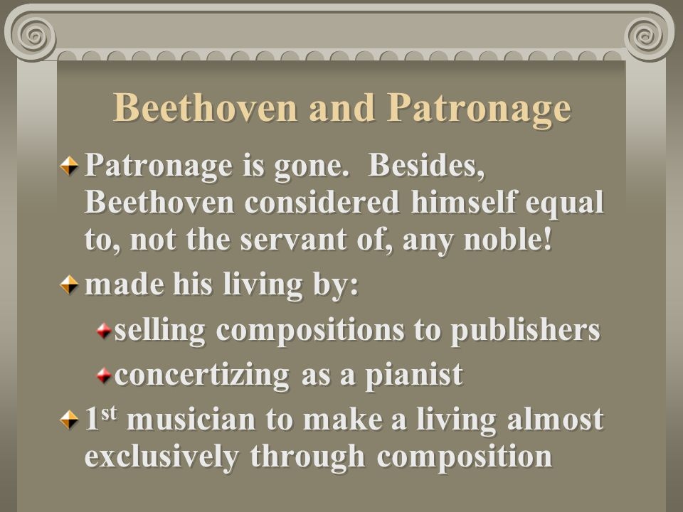 Beethoven and Patronage
