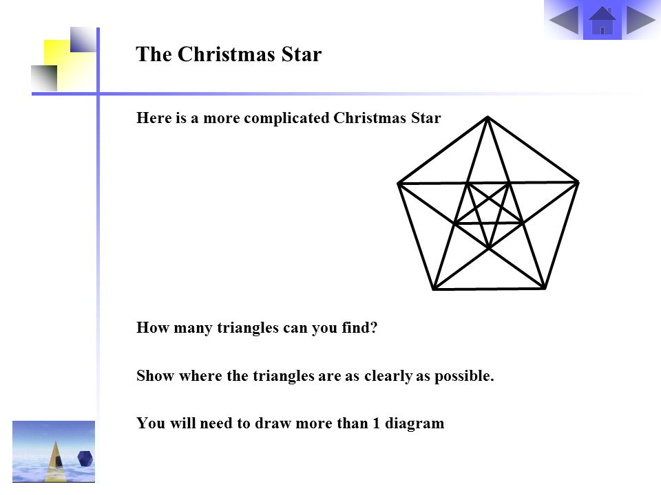 The Christmas Star Here is a more complicated Christmas Star