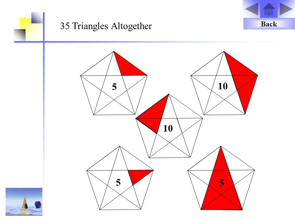 35 Triangles Altogether Back 5 10 10 5 5