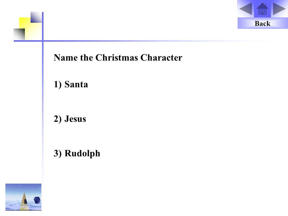 Name the Christmas Character