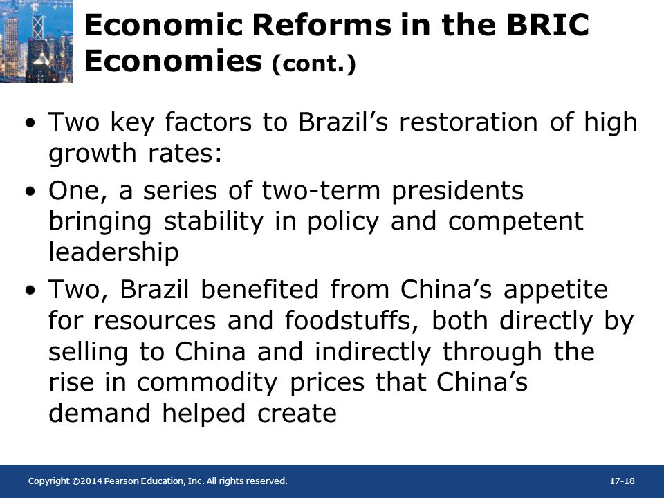 Economic Reforms in the BRIC Economies (cont.)