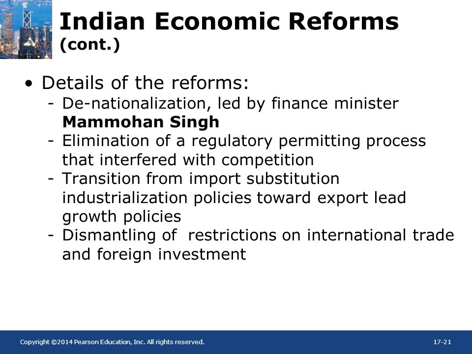 Indian Economic Reforms (cont.)