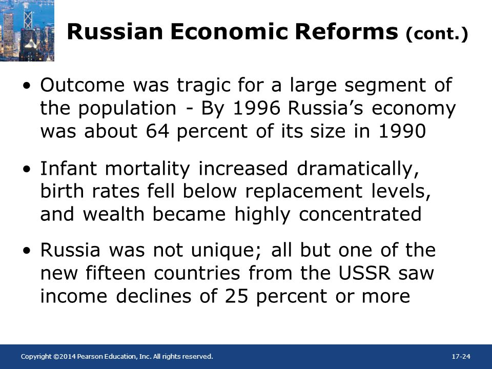 Russian Economic Reforms (cont.)