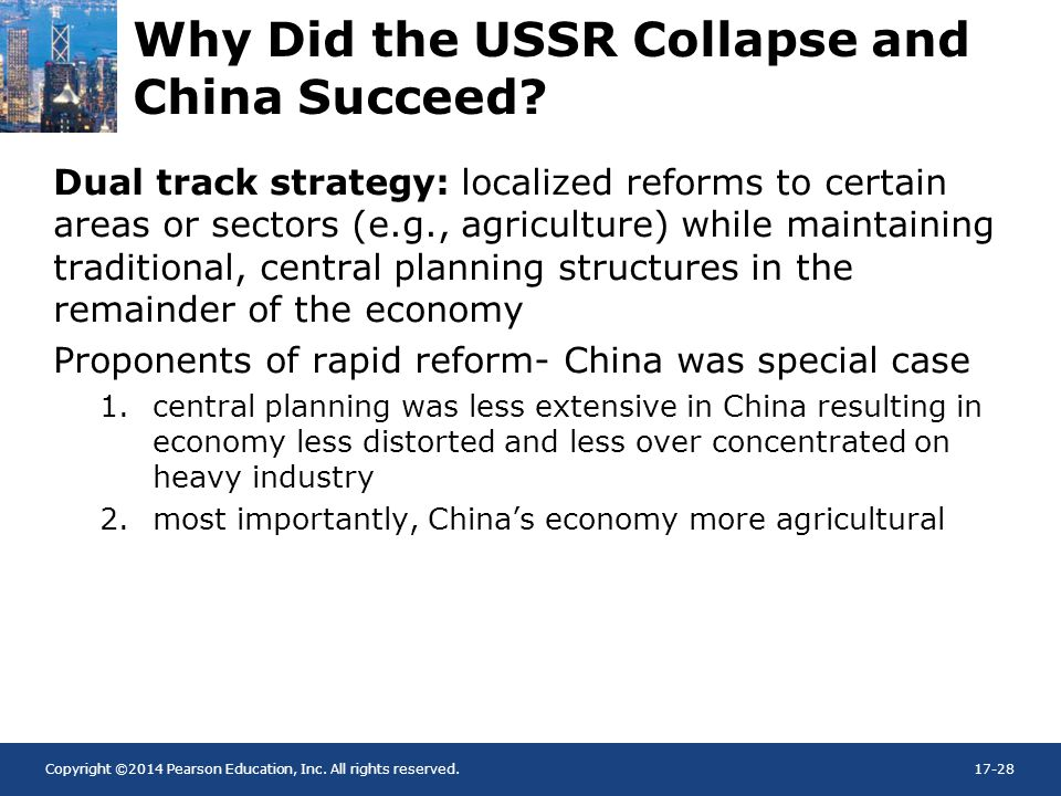 Why Did the USSR Collapse and China Succeed