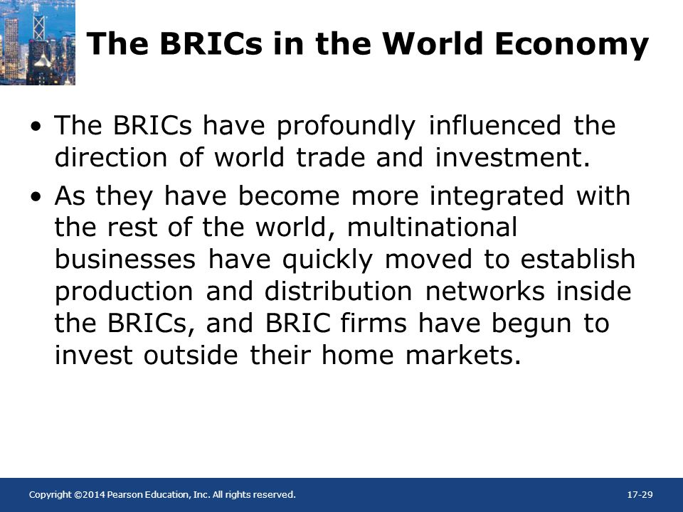 The BRICs in the World Economy