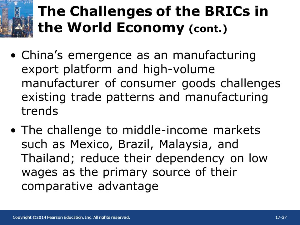The Challenges of the BRICs in the World Economy (cont.)