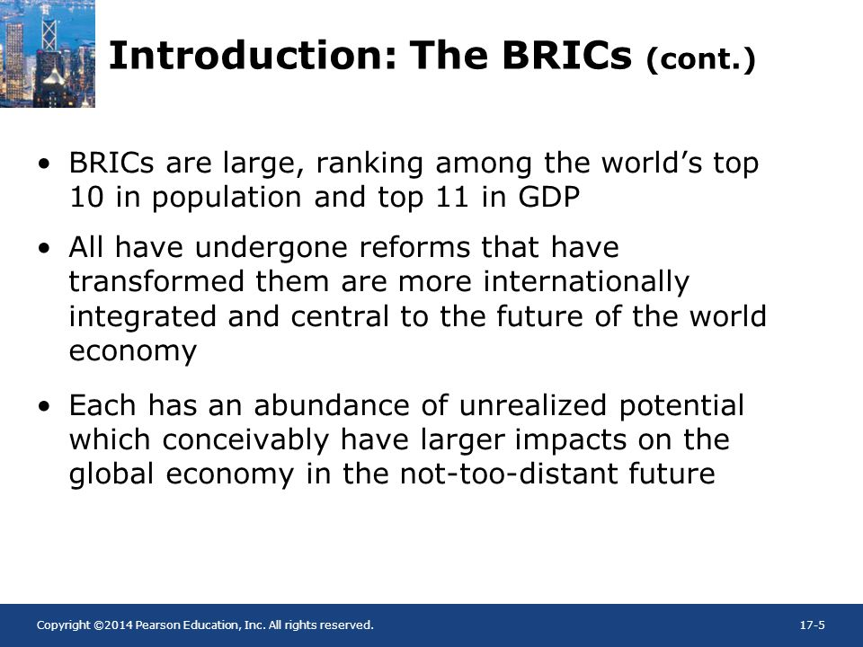 Introduction: The BRICs (cont.)