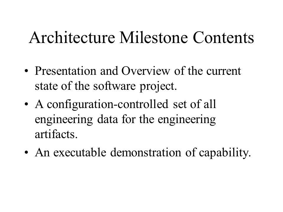 Architecture Milestone Contents
